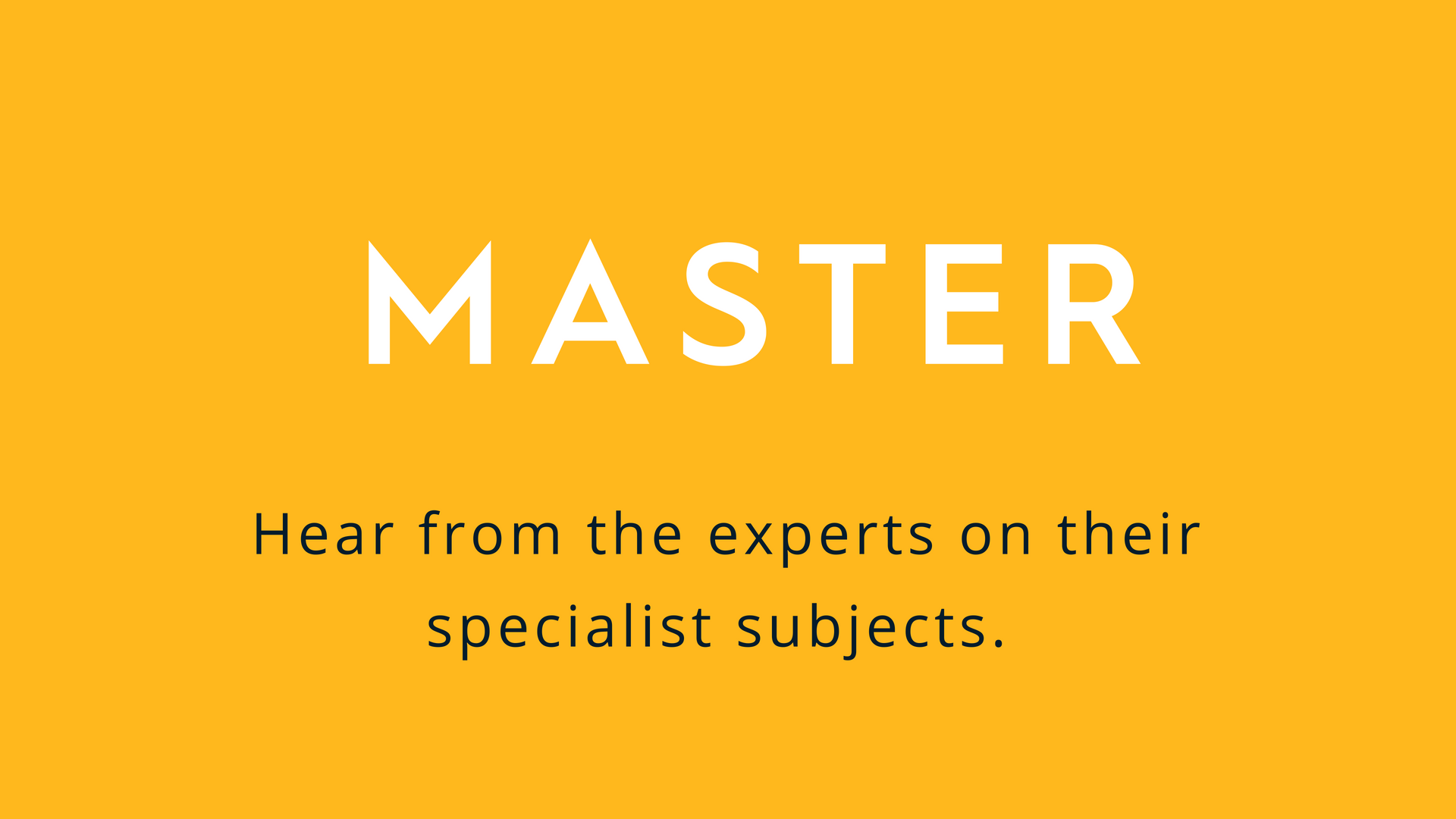 MASTER: Supervisor Workshop (London)